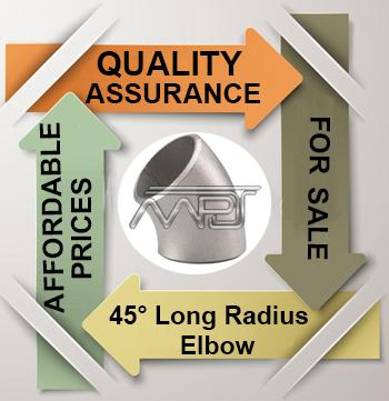 ANSI/ASME B16.9 45° Long Radius Elbow Exporter in India