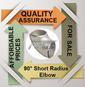 ANSI/ASME B16.9 90° Short Radius Elbow Exporter in India