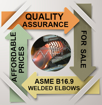 ANSI/ASME B16.9 Welded Elbows Exporter in India
