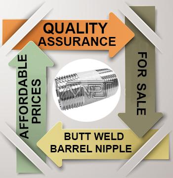 ANSI/ASME B16.9 Butt welding Barrel Nipple Exporter in India