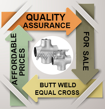 ANSI/ASME B16.9 Butt weld Equal Cross Exporter in India