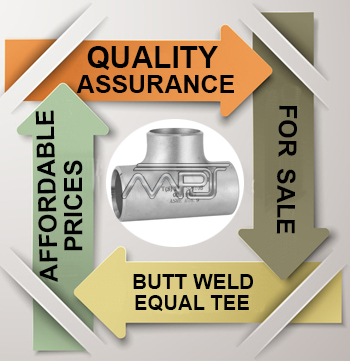 ASME B16.9 Butt weld Equal Tee Exporter in India
