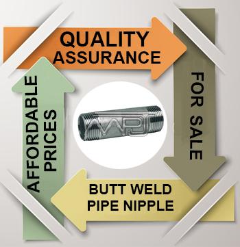 ANSI/ASME B16.9 Butt welding Pipe Nipples Exporter in India