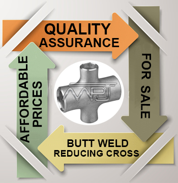 ANSI/ASME B16.9 Butt weld Reducing Cross Exporter in India