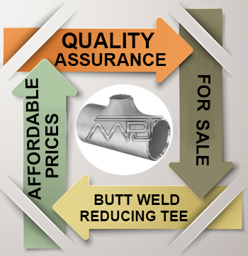 ASME B16.9 Butt weld Reducing Tee Exporter in India
