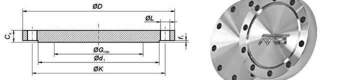 Flange EN 1092-1 Type 05 Dimensions