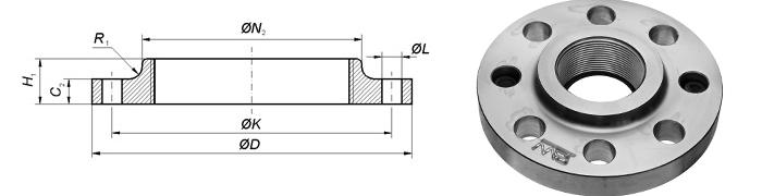 Flange EN 1092-1 Type 13 Dimensions