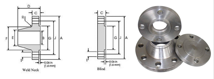 ASME B16.47 Series A/B (MSS SP-44) Flanges Dimensions