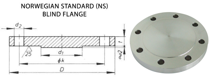 Norwegian Flanges Dimensions
