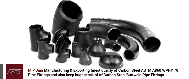 Carbon Steel ASTM A860 WPHY 70 Pipe Fittings